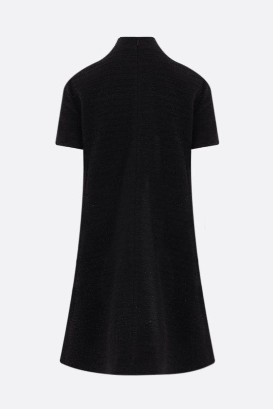 GUCCI: lamè tweed minidress Color Black_2