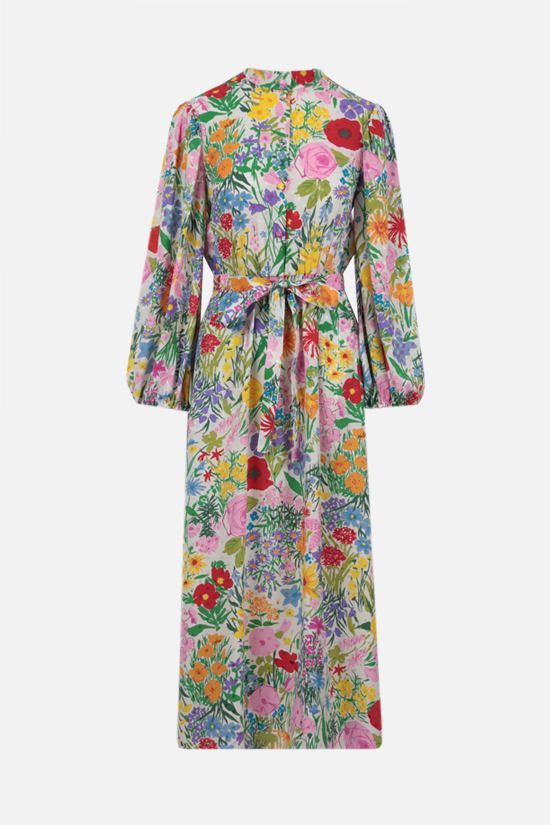 GUCCI: Ken Scott x Gucci silk long dress Color Multicolor_1