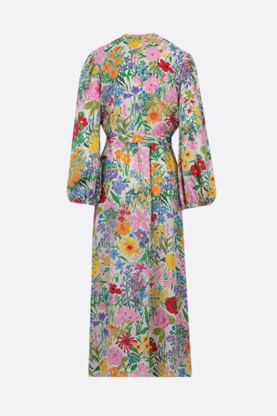 GUCCI: Ken Scott x Gucci silk long dress Color Multicolor_2