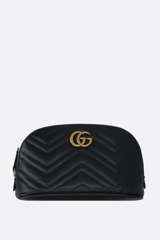 GUCCI: Marmont quilted leather beauty case Color Black_1