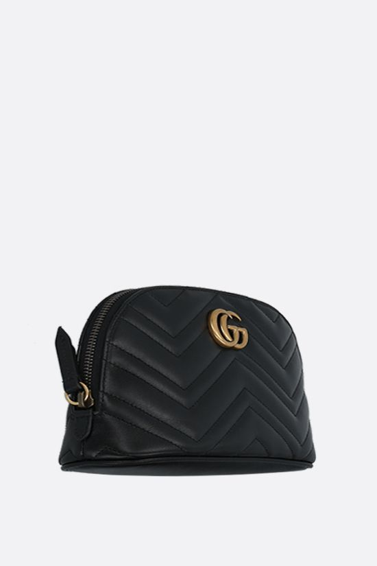 GUCCI: Marmont quilted leather beauty case Color Black_2