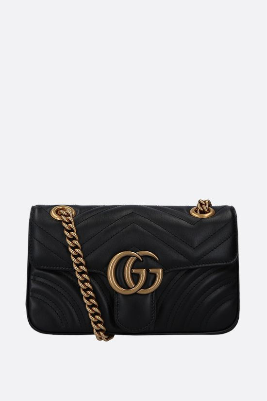 GUCCI: GG Marmont mini quilted leather shoulder bag Color Black_1