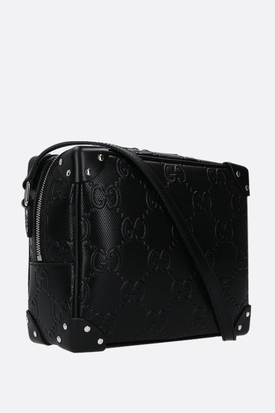 GUCCI: GG leather shoulder bag Color Black_2
