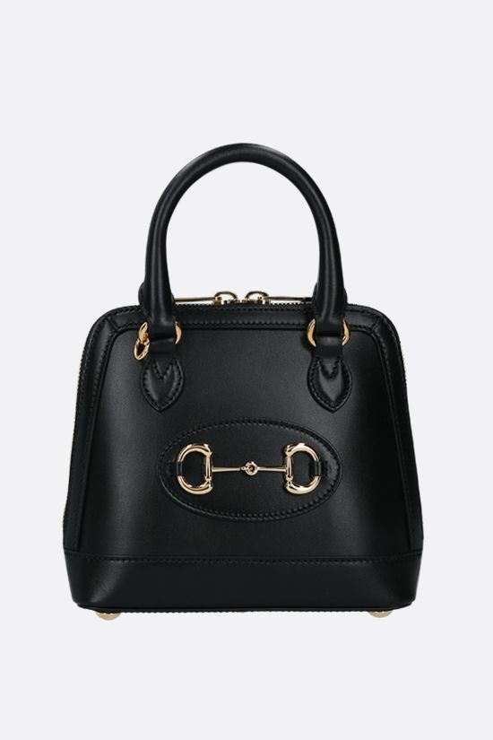 GUCCI: Gucci Horsebit 1955 mini smooth leather handbag Color Black_1
