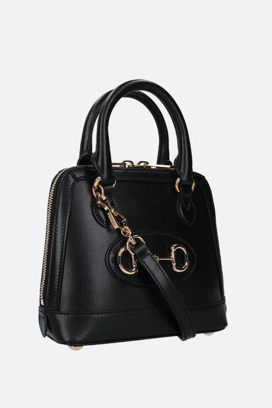 GUCCI: Gucci Horsebit 1955 mini smooth leather handbag Color Black_2