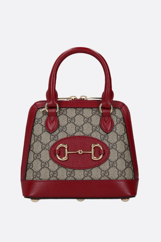 GUCCI: Gucci Horsebit 1955 mini handbag in GG Supreme canvas Color Brown_1