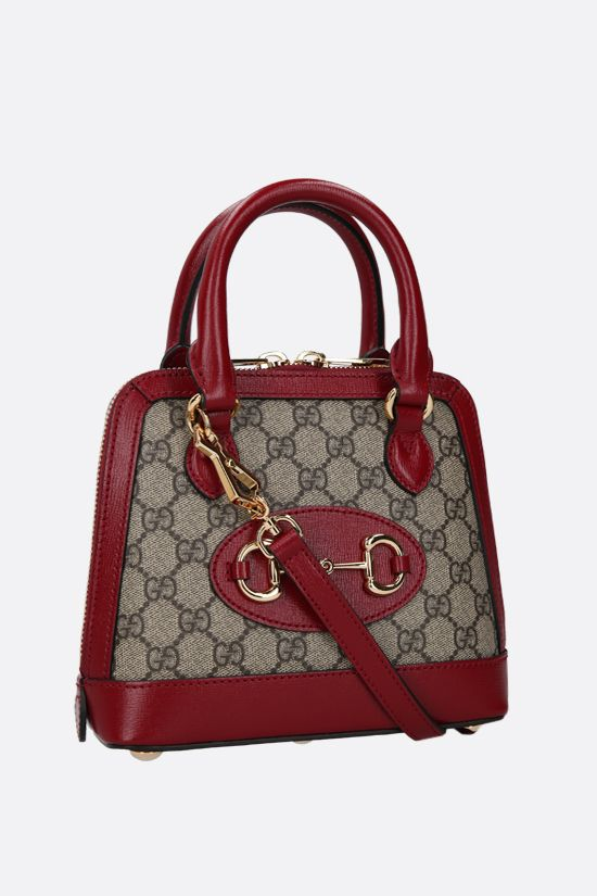 GUCCI: Gucci Horsebit 1955 mini handbag in GG Supreme canvas Color Brown_2