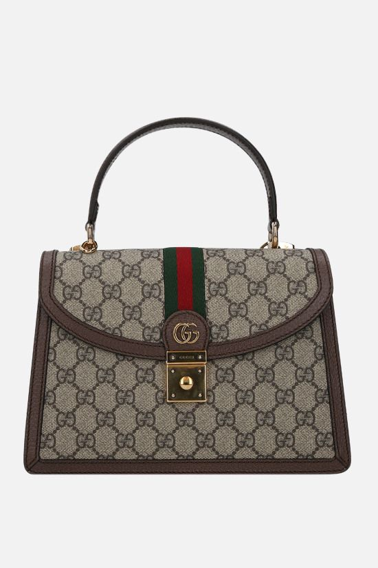 GUCCI: Ophidia small handbag in GG Supreme canvas Color Neutral_1