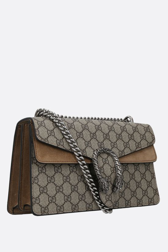 GUCCI: Dionysus GG small shoulder bag in GG Supreme canvas and suede Color Brown_2