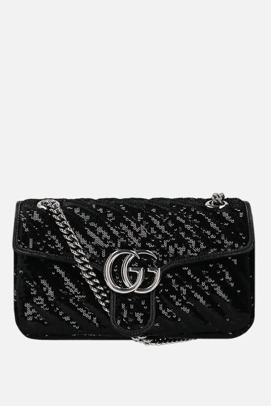 GUCCI: GG Marmont small sequin shoulder bag Color Black_1