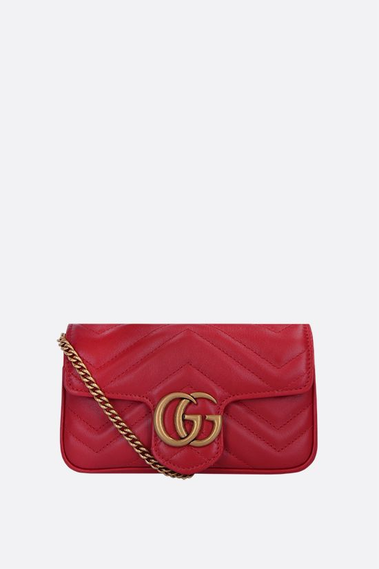 GUCCI: GG Marmont mini quilted leather crossbody bag Color Red_1