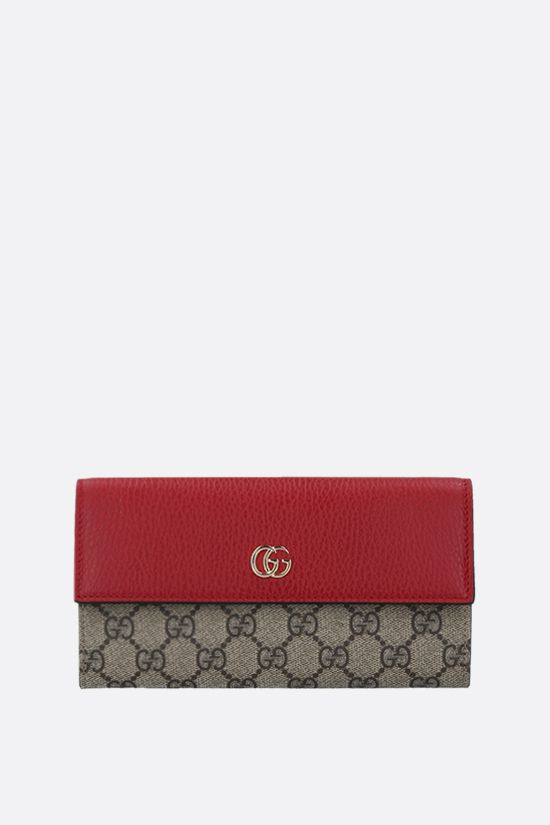 GUCCI: Petite Marmont chain wallet in GG Supreme fabric Color Multicolor_1