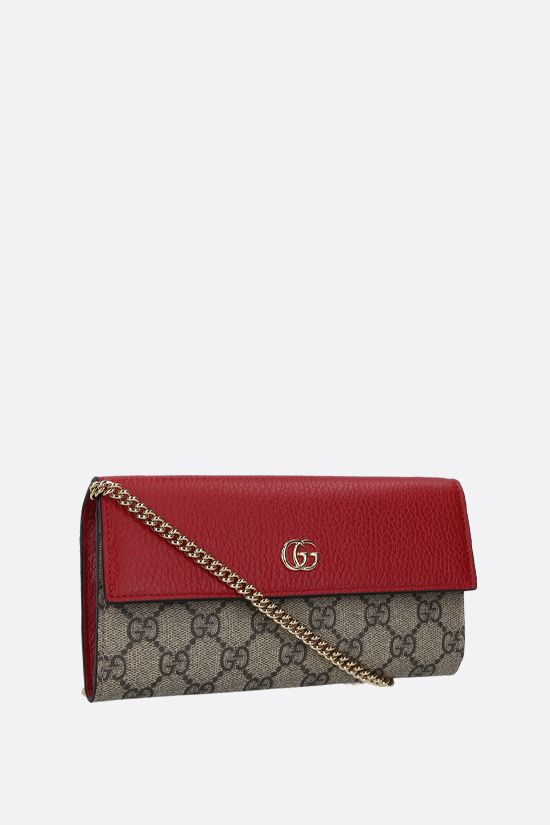 GUCCI: Petite Marmont chain wallet in GG Supreme fabric Color Multicolor_2
