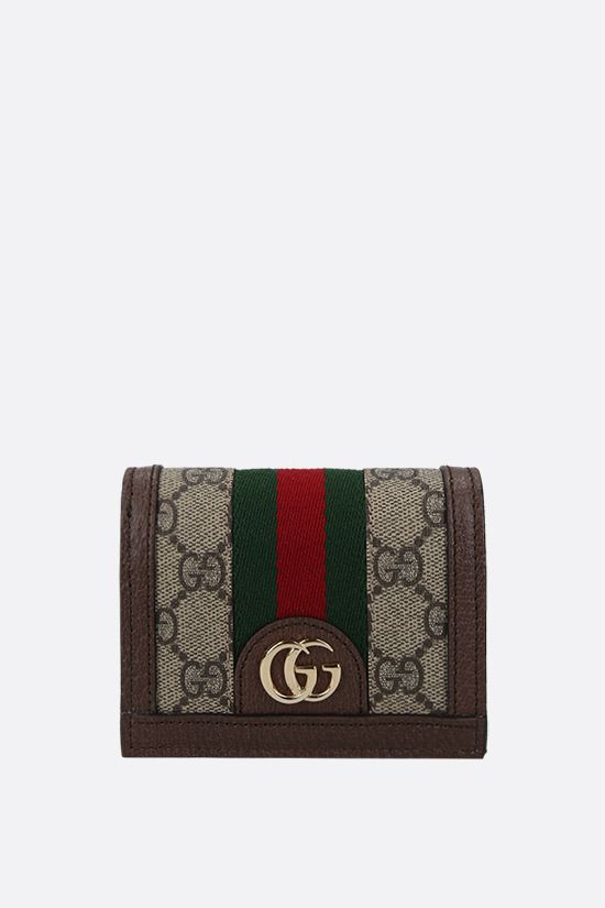 GUCCI: Ophidia wallet on chain in GG Supreme canvas Color Neutral_1