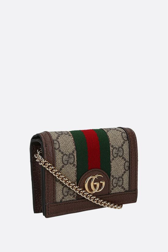 GUCCI: Ophidia wallet on chain in GG Supreme canvas Color Neutral_2