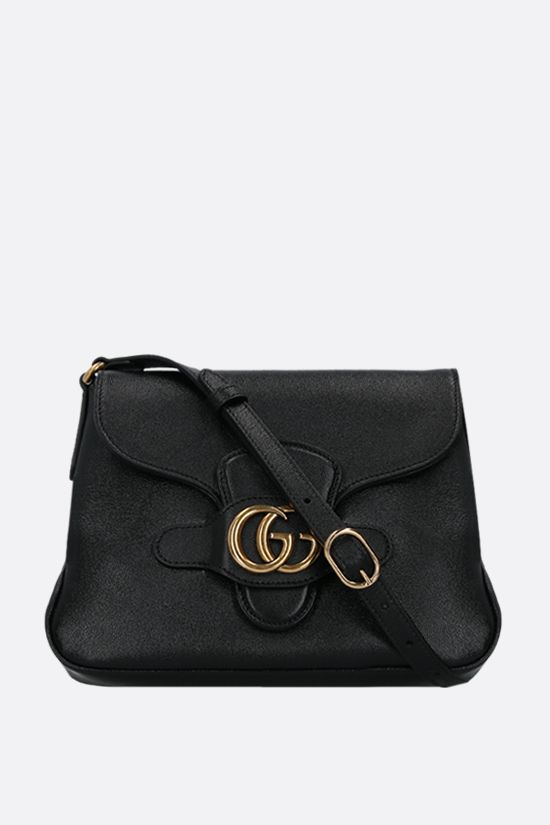 GUCCI: Dahlia small smooth leather shoulder bag Color Black_1