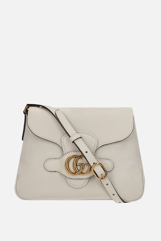 GUCCI: Dahlia small smooth leather shoulder bag Color White_1