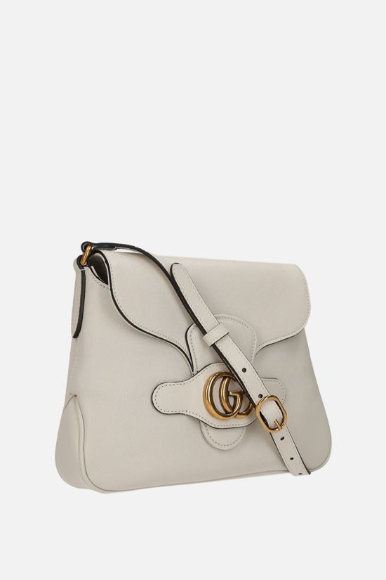 GUCCI: Dahlia small smooth leather shoulder bag Color White_2