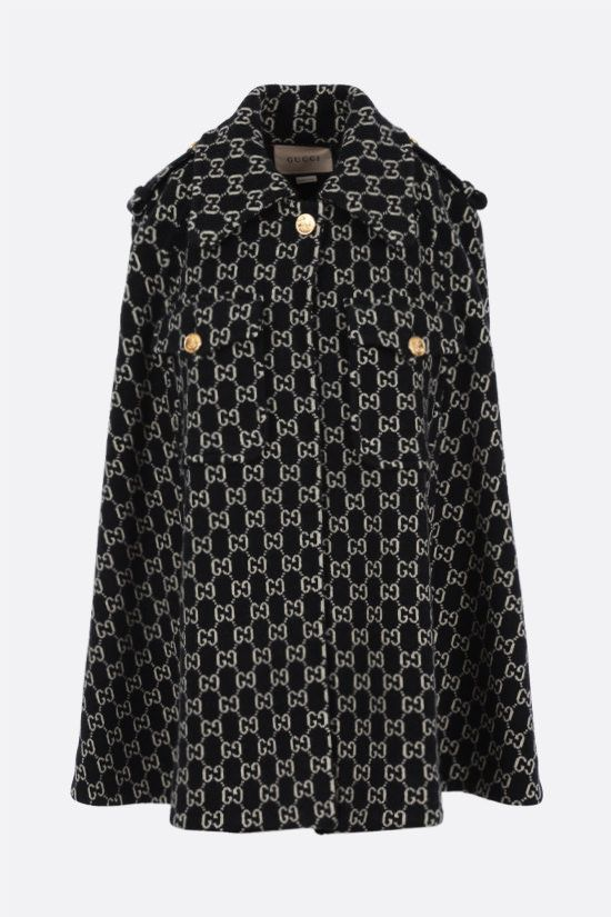 GUCCI: GG wool cape Color Multicolor_1