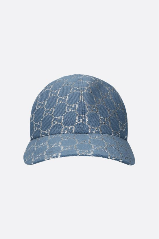GUCCI: GG lamè baseball cap Color Blue_1