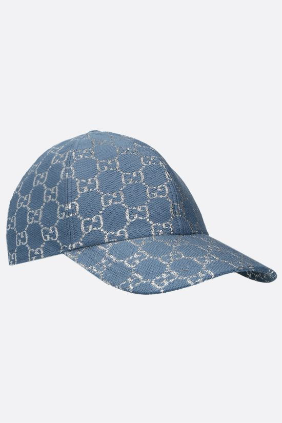 GUCCI: GG lamè baseball cap Color Blue_2