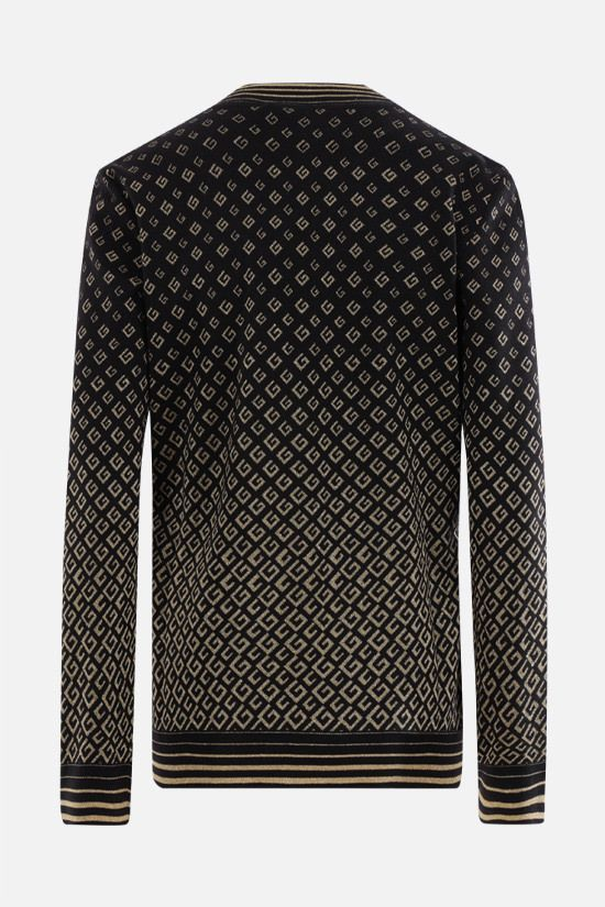 GUCCI: G extrafine wool and lamè cardigan Color Black_2