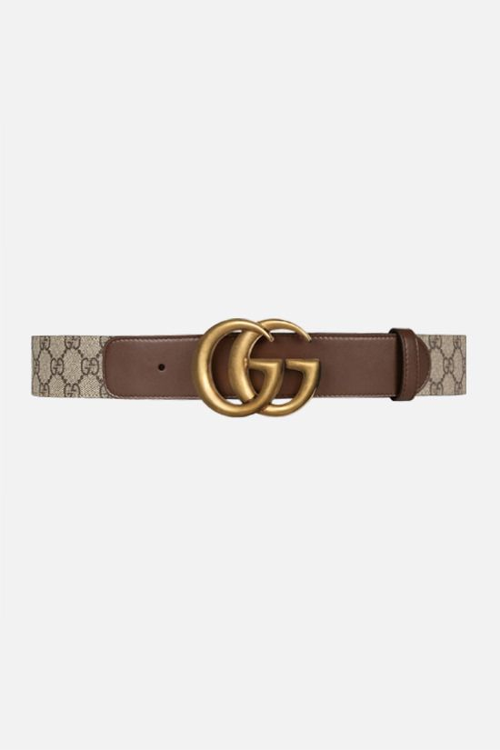 GUCCI: GG Supreme canvas belt Color Brown_1