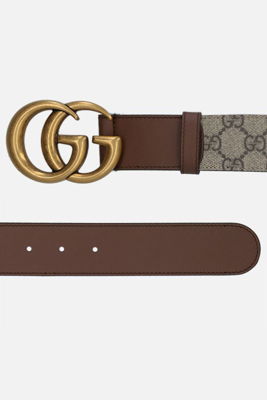 GUCCI: GG Supreme canvas belt Color Brown_2