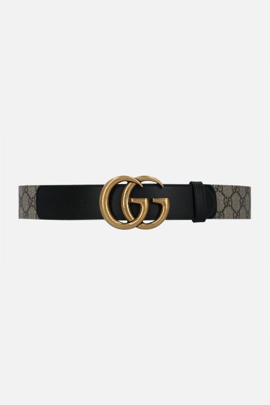 GUCCI: GG Supreme canvas belt Color Neutral_1