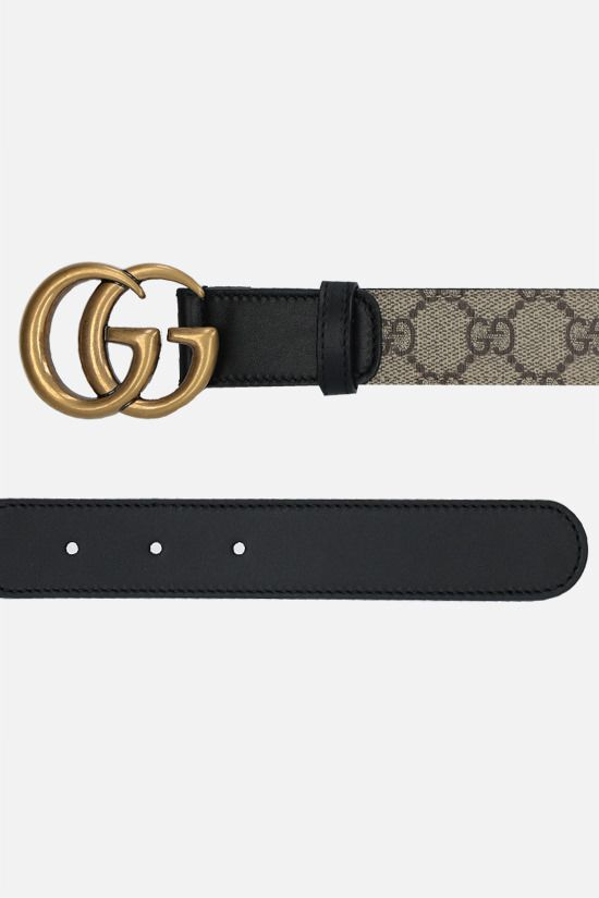 GUCCI: GG Supreme canvas belt Color Neutral_2