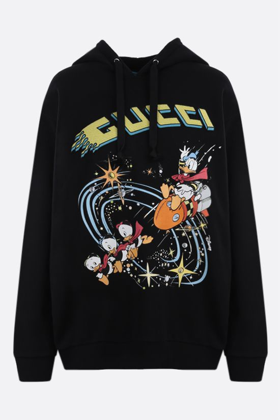 GUCCI: Disney x Gucci Donald Duck cotton hoodie Color Black_1