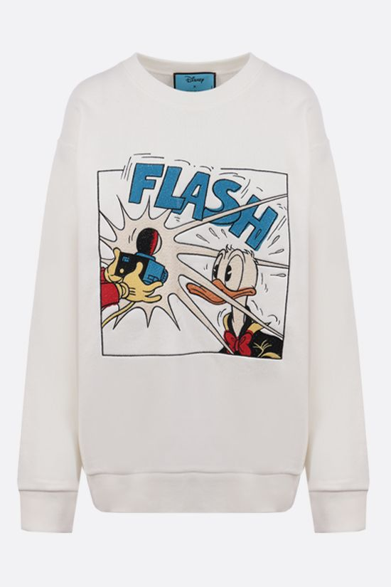 GUCCI: Disney x Gucci Donald Duck oversize cotton hoodie Color Yellow_1