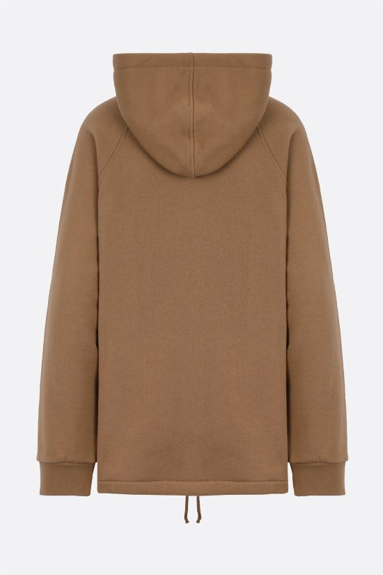 GUCCI: Web-detailed cotton hoodie Color Neutral_2