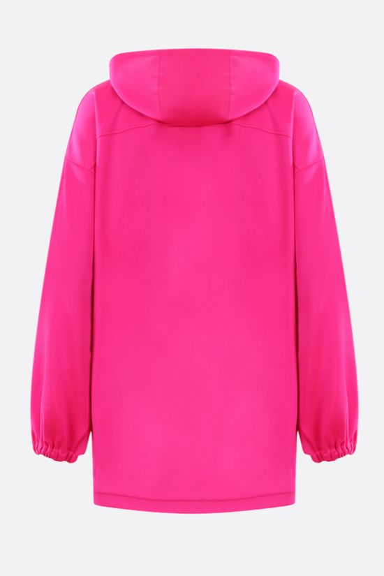 GUCCI: oversize technical jersey hoodie Color Pink_2