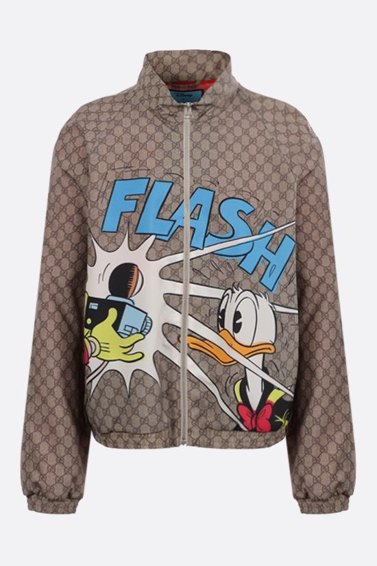 GUCCI: bomber Donald Duck Disney x Gucci in nylon GG Supreme Colore Marrone_1