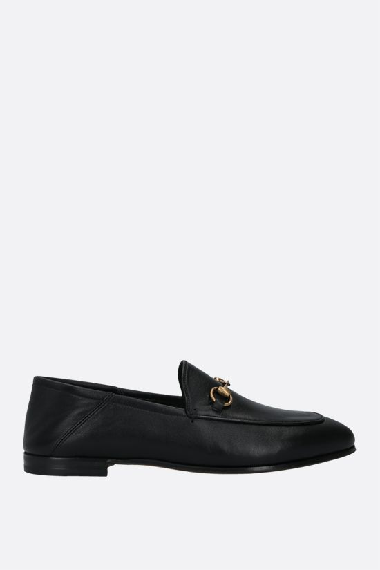 GUCCI: Brixton plongè nappa loafers Color Black_1