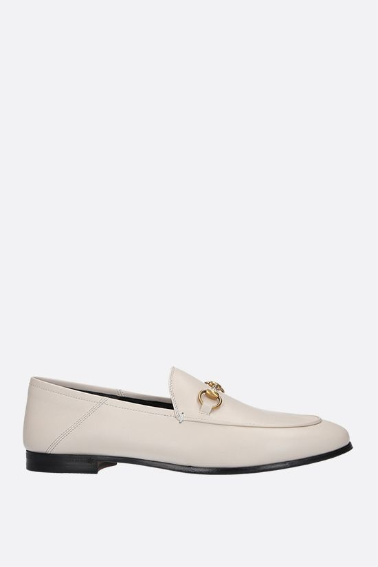 GUCCI: Brixton plongè nappa loafers Color White_1