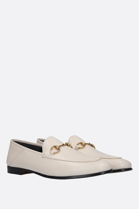 GUCCI: Brixton plongè nappa loafers Color White_2
