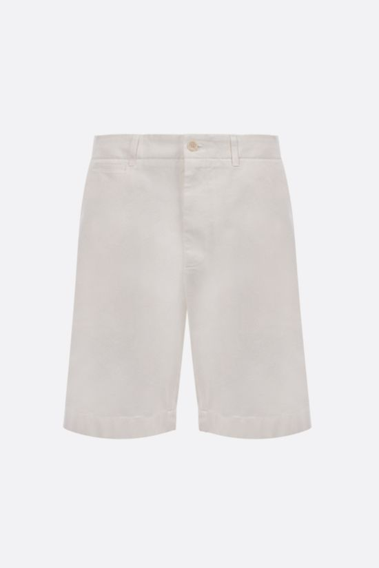 GUCCI: Interlocking G patch cotton shorts Color White_1