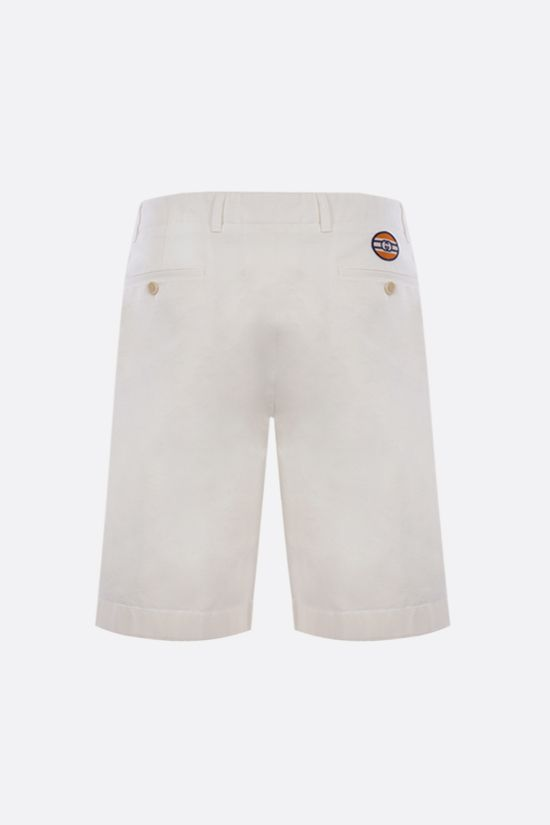 GUCCI: Interlocking G patch cotton shorts Color White_2