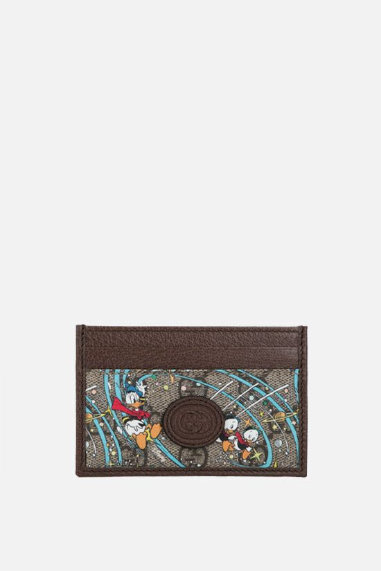 GUCCI: porta carte Donald Duck Disney x Gucci in canvas Colore Multicolore_1