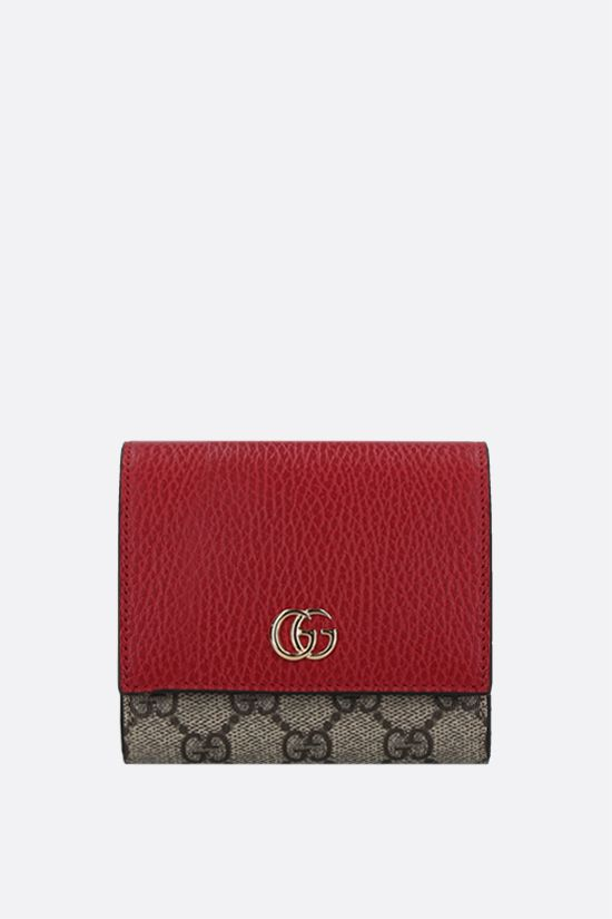 GUCCI: GG Supreme fabric Marmont small flap wallet Color Multicolor_1