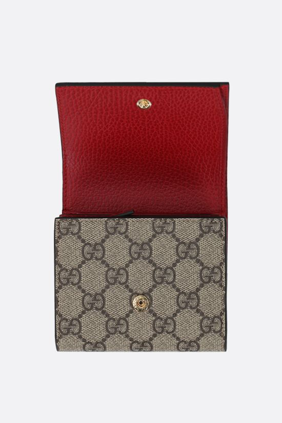 GUCCI: GG Supreme fabric Marmont small flap wallet Color Multicolor_2