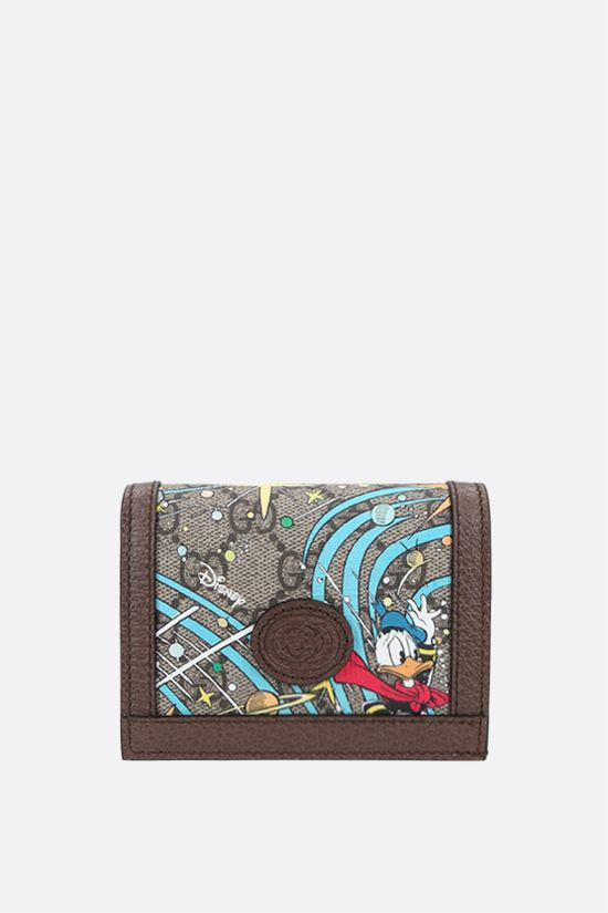 GUCCI: Donald Duck Disney x Gucci canvas flap wallet Color Multicolor_1