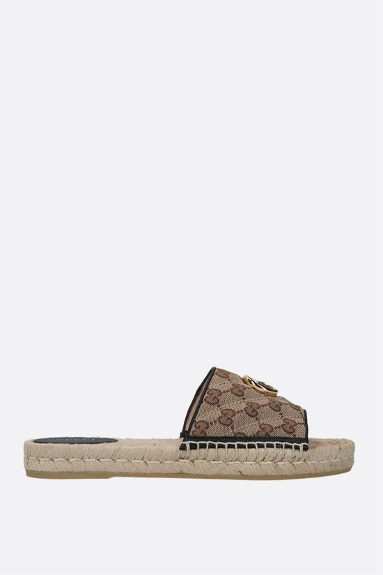 GUCCI: GG quilted canvas espadrille sandals Color Multicolor_1