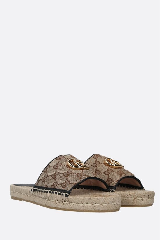 GUCCI: GG quilted canvas espadrille sandals Color Multicolor_2