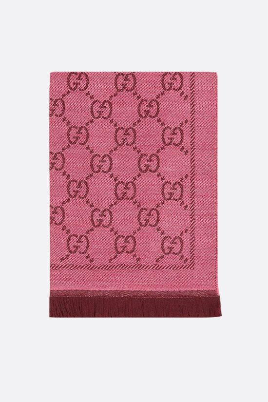 GUCCI: GG wool jacquard scarf Color Red_1