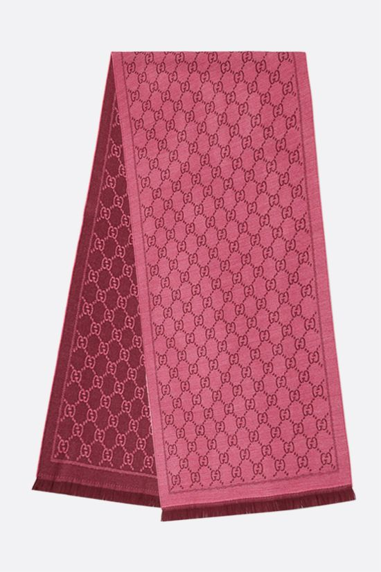 GUCCI: GG wool jacquard scarf Color Red_2