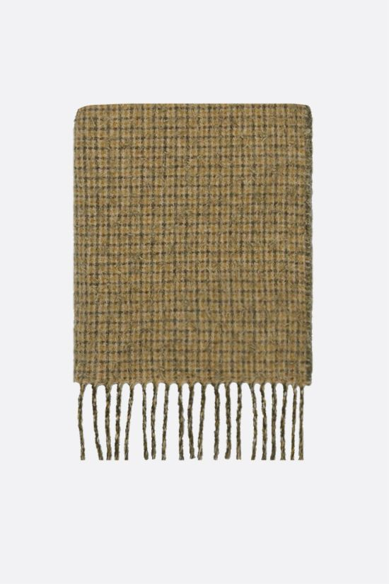 GUCCI: logo-detailed wool blend scarf Color Green_1