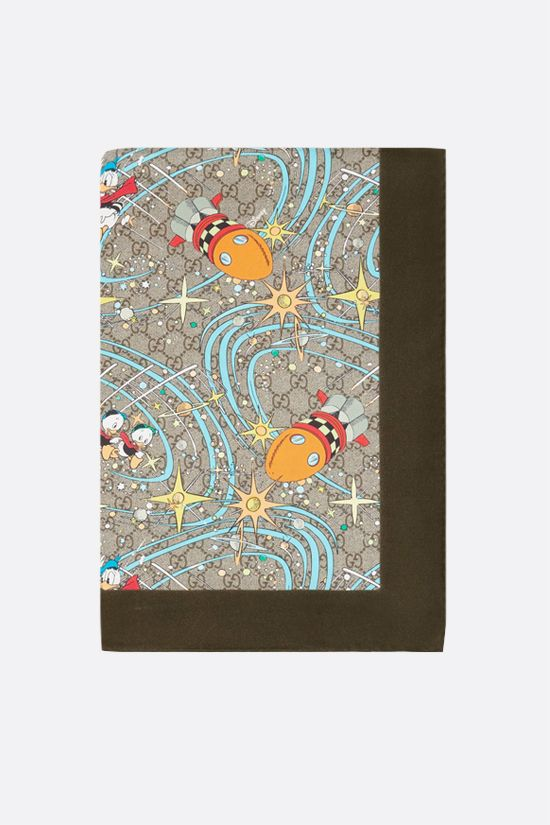 GUCCI: Disney x Gucci Donald Duck silk foulard Color Multicolor_1